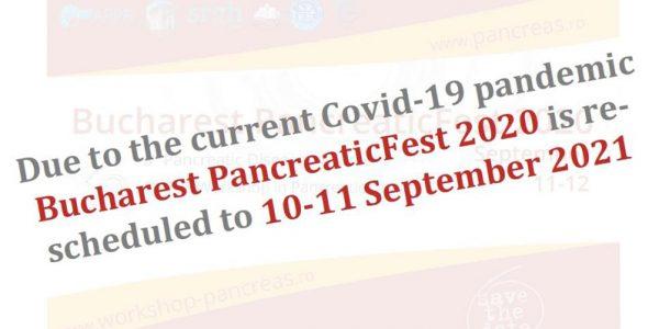 anunt anulare Bucharest PancreaticFest 2020